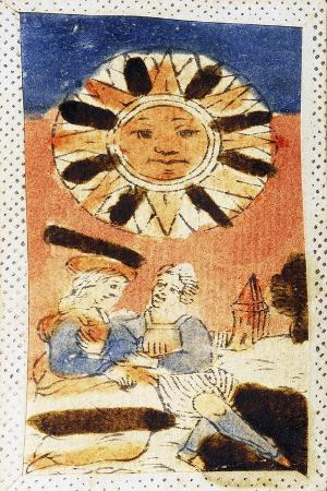 Tarot Card Depicting Sun, 16th Century, Italy