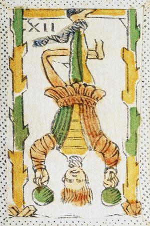 Tarot Card Depicting Hanged Man, 16th Century, Italy