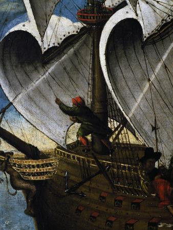Sailor Hoisting Sail, Detail, Portugal, 16th Century