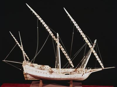 Spanish Caravel from the Beginning of 16th Century, Ivory Scale Model