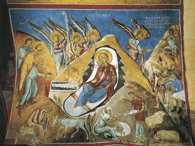 Paintings of the Nativity Scene, Panagia Too Araka, Lagoudera, Cyprus