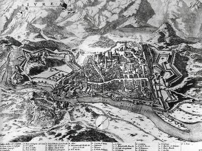 Ivrea and its Fortifications, 1726, Italy, 18th Century