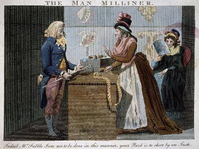 The Man Milliner, 1793, United Kingdom, 18th Century