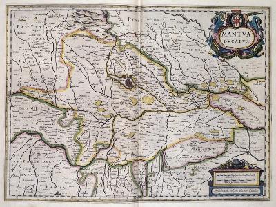Duchy of Mantua, Map by Willem Blaeu (1571-1638), Italy, 17th Century