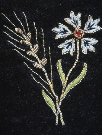 Floral Embroidery on Walser Costume, Gressoney, Valle D' Aosta, Italy