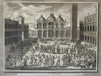 Carnival in St Mark's Square in Venice, Italy, 1757