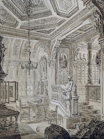 Neo-Renaissance Style Study by C Gosse, 1886, France, 19th Century
