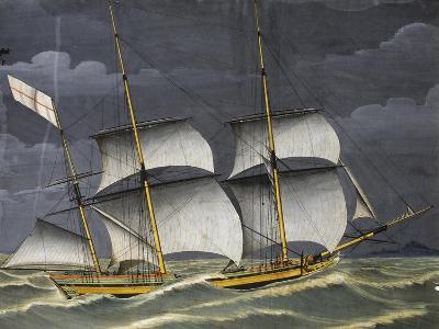 Ligurian Polacca under Windy Conditions, Tempera, 18th Century