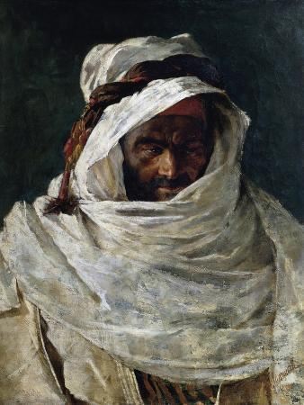 Head of Arab, Painting by Nino Carnevali (1849-After 1912)