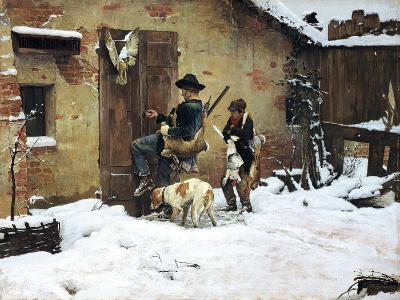 Return, Painting by Giovanni Battista Quadrone (1844-1898)