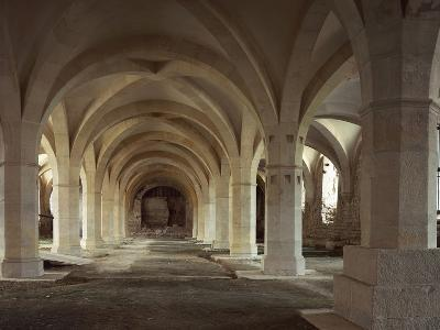 Interiors of an Abbey, Clairvaux Abbey, Champagne-Ardenne, France