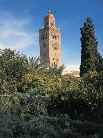 Low Angle View of a Minaret, Kutubiyya Mosque, Marrakesh, Morocco