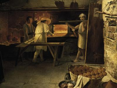 Bakers at Work, Painting by Anonymous, 18th Century