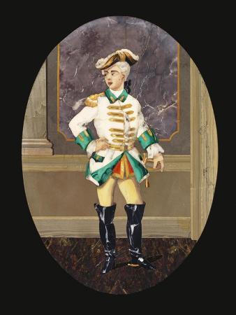 An Italian Pietre Dure Panel Depicting a Gentleman (Pietre Dura)