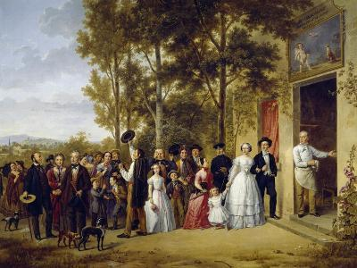 Wedding at Coeur Volant at Marly, 1850, by Unknown French Painter