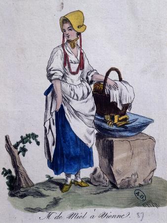 Honey Seller in Vienna, 1787, Austria, 18th Century