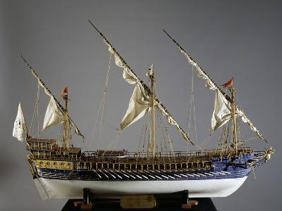 Royal French Galeas Model, 1:50 Scale, 18th Century