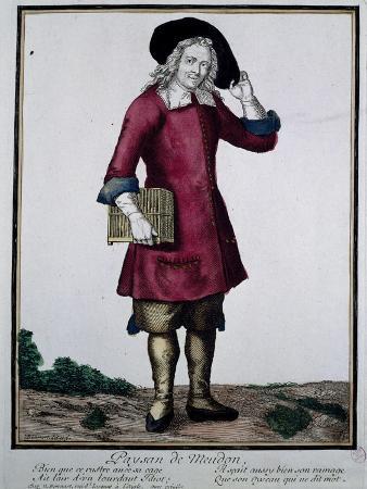 Farmer from Meudon, Print, France, 18th Century