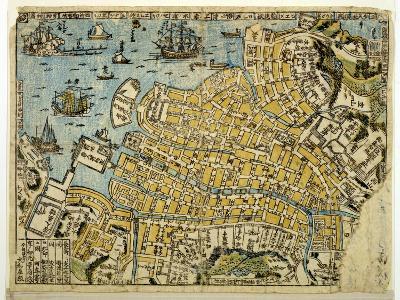 Map of Nagasaki, C.1801