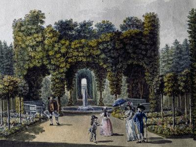 Romantic Garden of Neuwaldegg, Watercolour, Austria, 19th Century