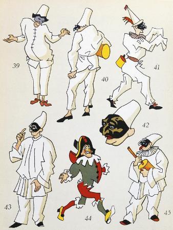 Pulcinella, Commedia Dell'Arte Character, Italy, 20th Century