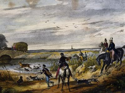 Hunting Scene on Horseback, 1840, France, 19th Century