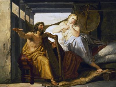 Ossian and Malvina, Pelagius Palagi (1775-1860), Italy, 18th Century