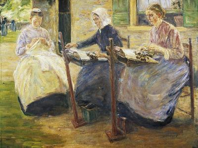 Brabant Lacemakers, 1894, Painting by Max Liebermann (1847-1935)