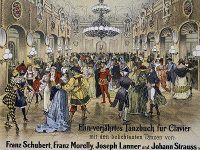 Sperl Saal Dance Hall in Vienna, Print. Austria, 19th Century