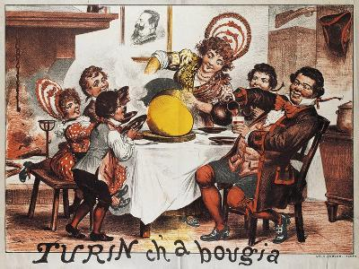 Gianduja Having Lunch with His Family, Italy, 19th Century