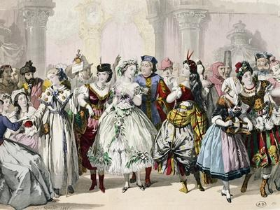 People Wearing Masks, France, 19th Century