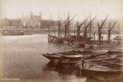 Tower of London from Horsleydown, London, C.1885
