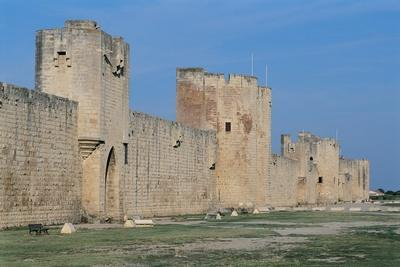 Fortified Wall of a Castle, Aigues-Mortes, Languedoc-Rousillon, France