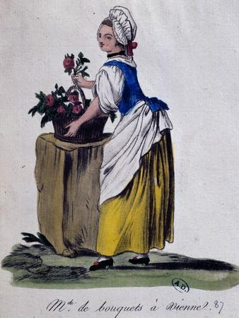 Flower Seller in Vienna, 1787