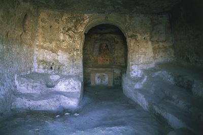 Ruins of a Church, Rocky Church, Matera, Basilicata, Italy