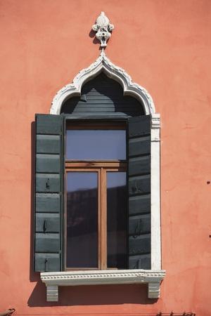 Window in Venetian Gothic Style, Chioggia, Veneto, Italy