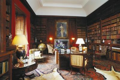 Library of Dunrobin Castle, Golspie, Scotland, United Kingdom