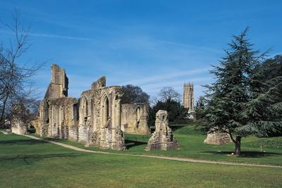 The Ruins of Glastonbury Abbey, Founded in 712, England, UK