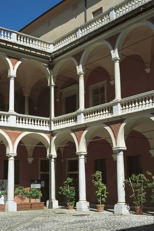 Facade of a Palace, Cybo- Malaspina Palace, Massa, Tuscany, Italy