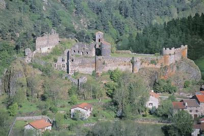 Old Ruins of a Castle, Arlempdes Castle, Auvergne, France