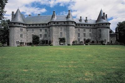 Facade of a Castle, Pompadour Castle, Limousin, France