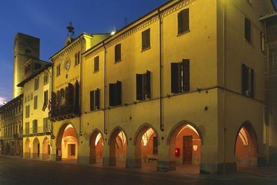 Night View of Alba City Hall, 18th Century, Piedmont, Italy
