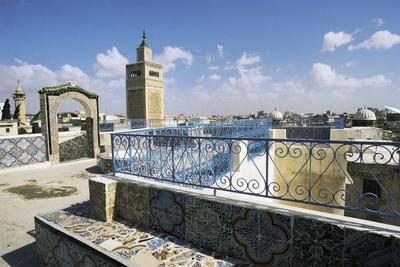 View Of Tunis And Minaret Of Al Zaytuna Mosque Tunis Tunisia Photographic Print Allposters Com