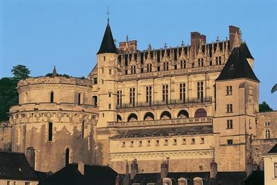 Facade of a Castle, Chateau D'Amboise, Amboise, Centre, France