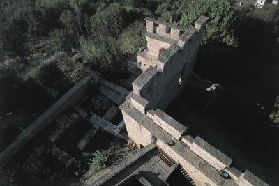 High Angle View of a Castle, Fallavier Castle, Rhone-Alpes, France