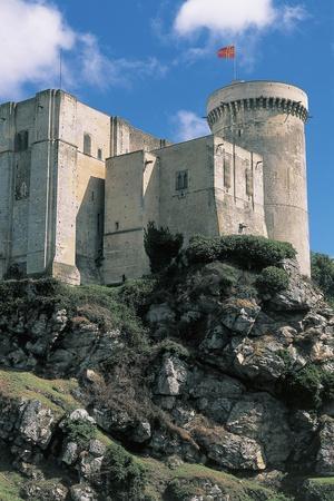 Low Angle View of a Castle, Chateau De Falaise, Normandy, France