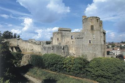 Old Ruins of a Castle, Clisson Castle, Pay De La Loire, France