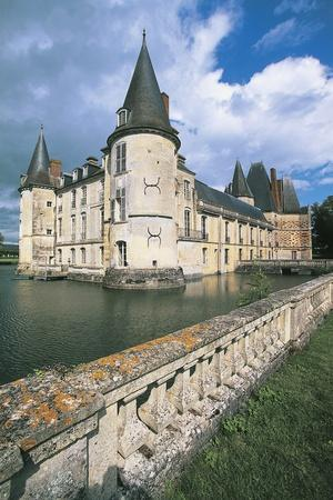 Reflection of a Castle in Water, Chateau D'O, Normandy, France