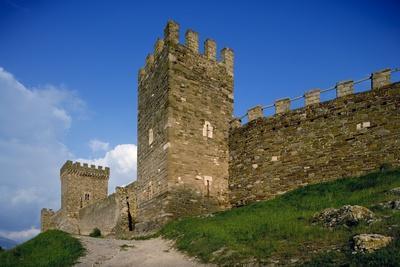 The Genoese Fortress (14th-15th Century) in Sudak, Crimea, Ukraine