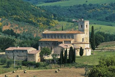 Abbey of St Anthimus, 8th-12th Century, Montalcino, Tuscany, Italy